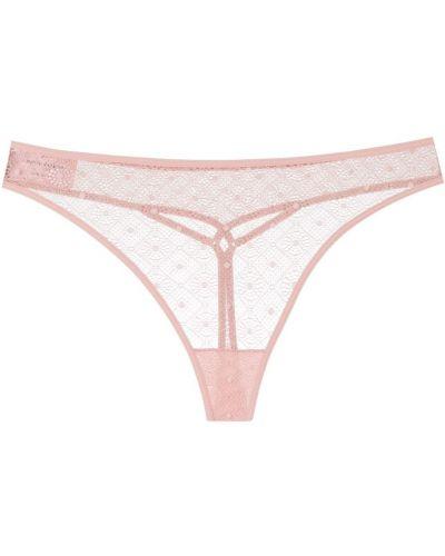 Różowe majtki koronkowe bawełniane Marlies Dekkers