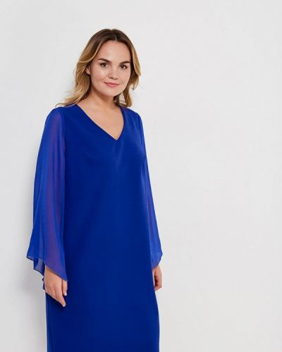 Платье осеннее синее Lina