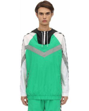 Zielona bluza z kapturem Hummel