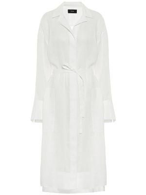 Белое платье-рубашка Joseph
