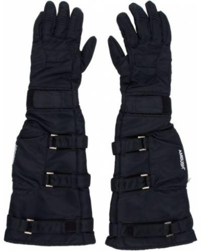 Czarne rękawiczki srebrne na rzepy Ambush