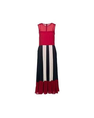 Бордовое платье из полиэстера Valentino Red