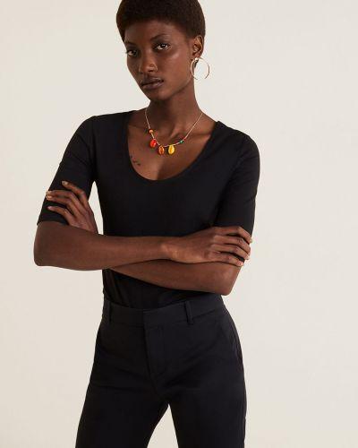 Koszula na gumce czarny Mango