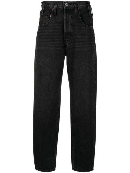 Джинсовые зауженные джинсы - черные Re/done