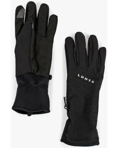 Черные перчатки текстильные Luhta