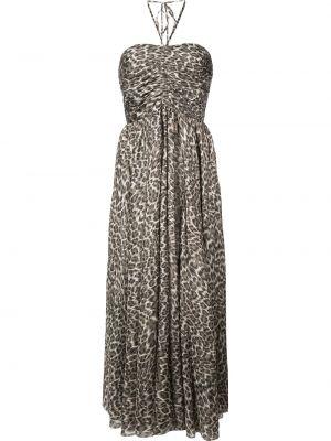 Платье миди леопардовое с рукавами Zimmermann
