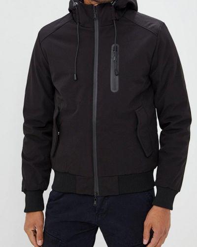 Утепленная куртка демисезонная черная Chromosome