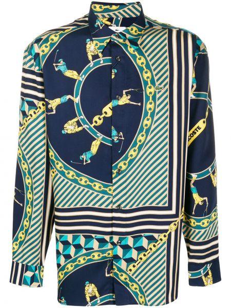 Koszula z długim rękawem w paski z paskami Lacoste