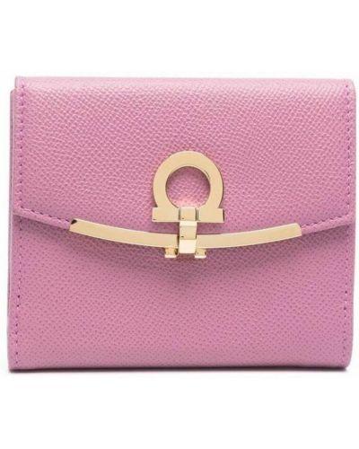 Różowy portfel Salvatore Ferragamo