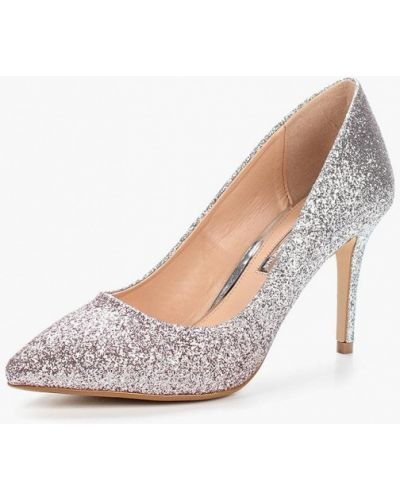 Туфли-лодочки серебряного цвета Dorothy Perkins